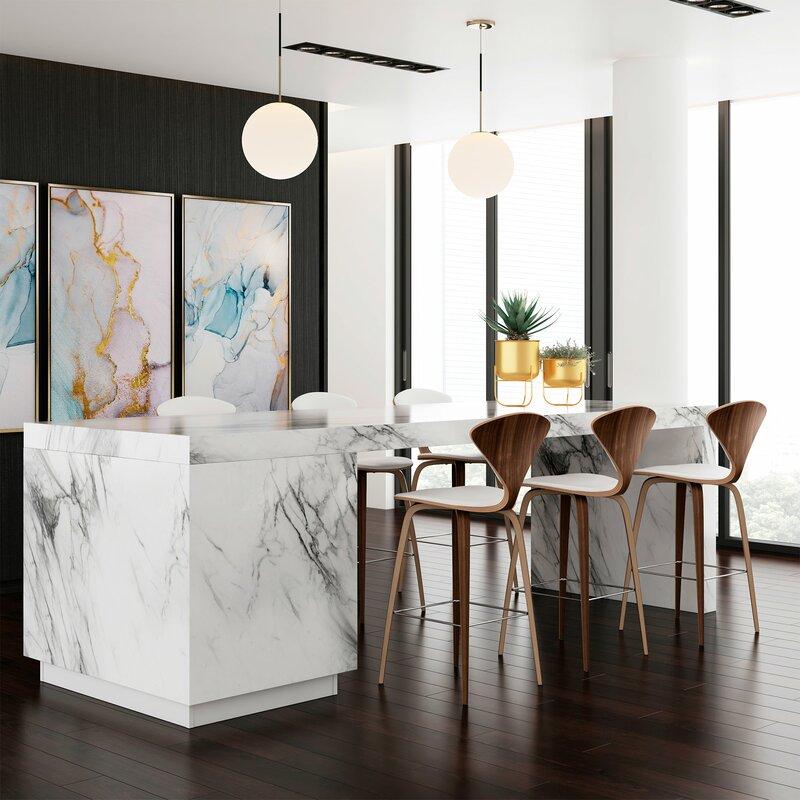 Fantastic Olivia Genuine Leather Bar Counter Stool Bralicious Painted Fabric Chair Ideas Braliciousco