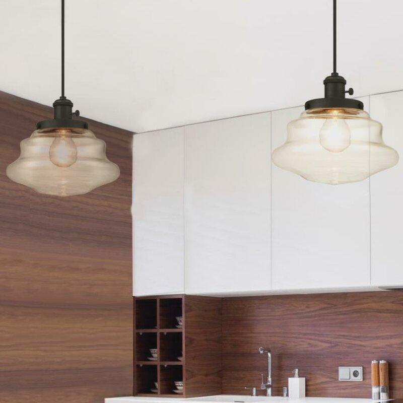 Westinghouse lighting 1 light schoolhouse pendant reviews wayfair 1 light schoolhouse pendant aloadofball Gallery