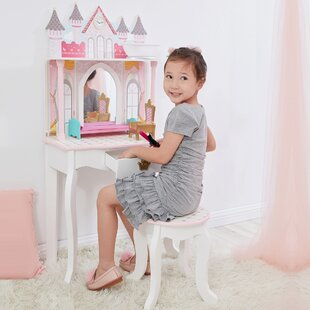 Frances Dressing Table Set with Mirror by Zoomie Kids