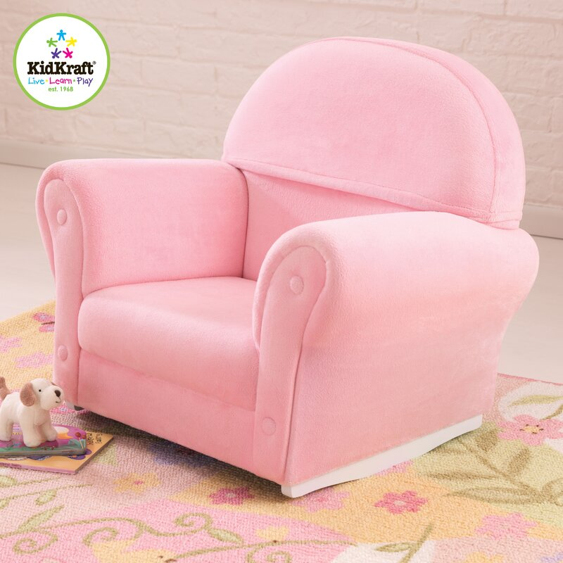 Superb Velour Personalized Kids Rocking Chair