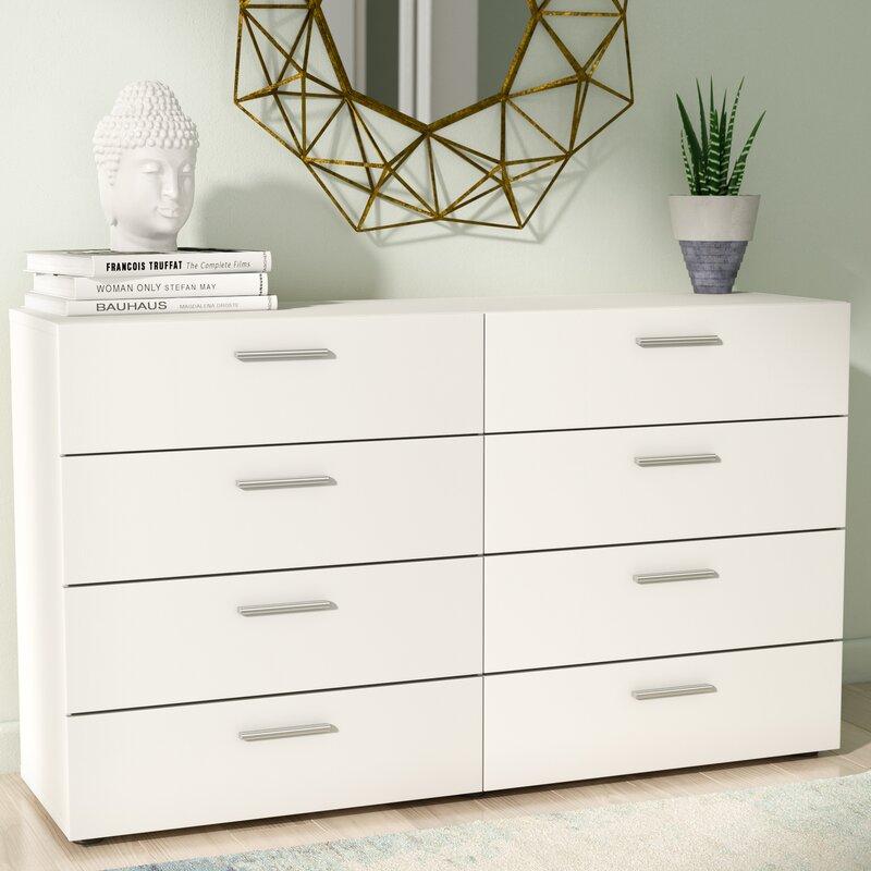 Wade Logan Pannell 8 Drawer Double Dresser Reviews Wayfair