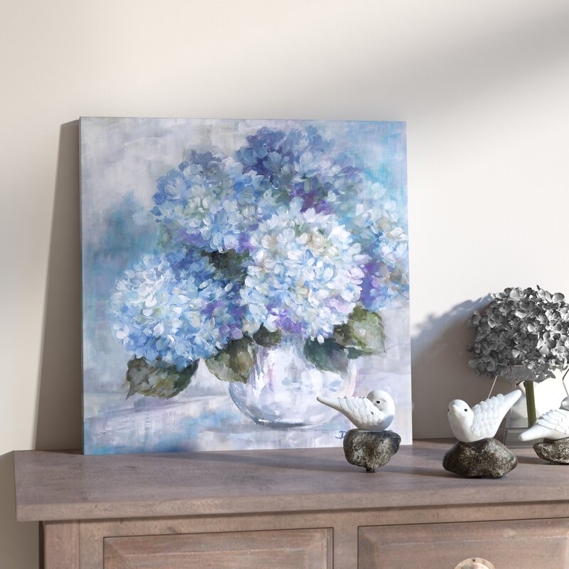 Hydrangea Painting Print On Canvas Amp Reviews Joss Amp Main