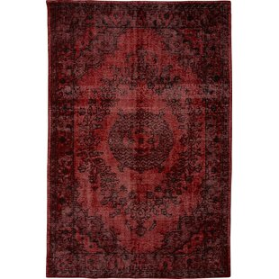 Gilles Handmade Kilim Wool Wine Rug by World Menagerie