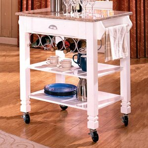 Kitchen Island with Marble Top by Bernards