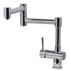 Single Handle Deck Mount Retractable Kitchen Faucet
