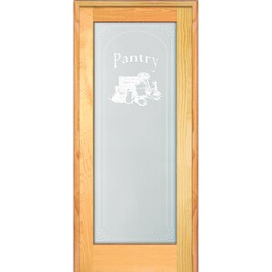 Pantry Wood 1 Panel Natural Interior French Door