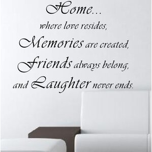 Home...Where Love Resides Wall Decal Part 58