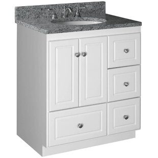 30 Inch Vanity Cabinet With Fitted Sink | modern light grey oak wenge  design with chrome