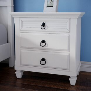 Hurst 3 Drawer Nightstand