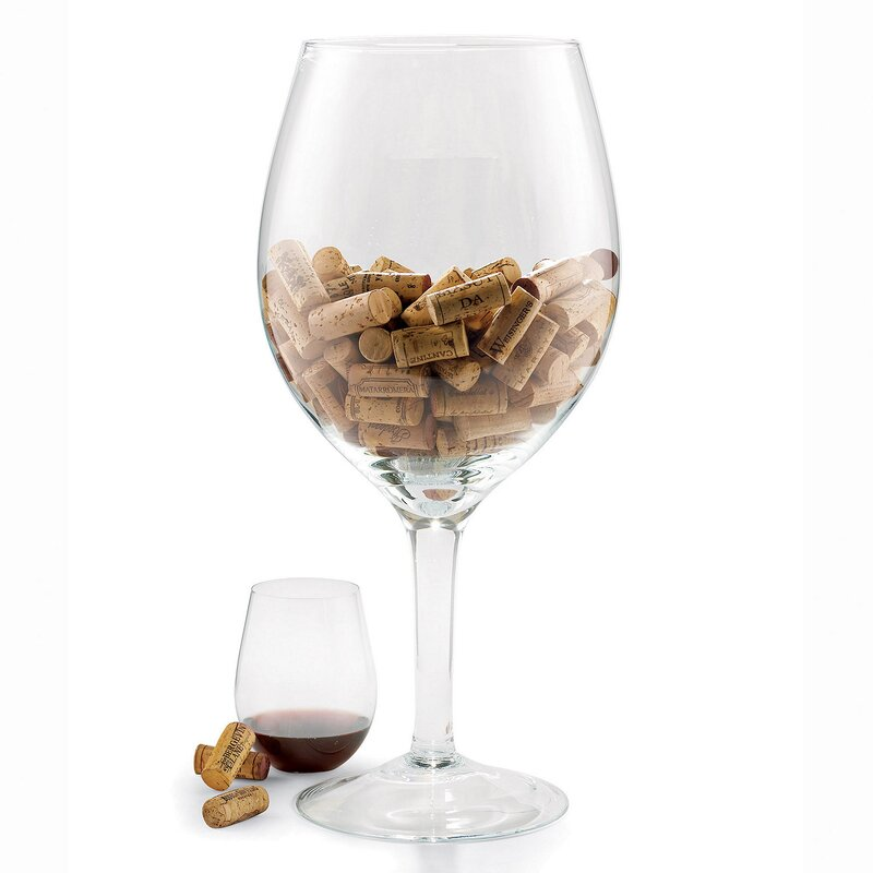 Wine Enthusiast Companies Oversized Wine Glass Cork Holder Reviews