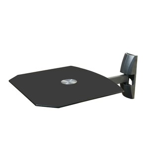 Single Wall Mount Shelf For DVD VCR Cable Box, PS3, XBOX, Stereo Blu