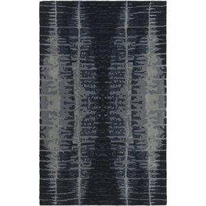 Romola Hand-Tufted Black/Medium Gray Area Rug