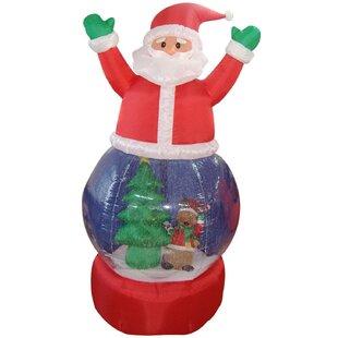 347c37e1c4ac1 Santa Claus Snow Globe Lighted Christmas Inflatable