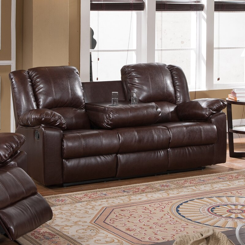 Burgas Reclining Sofa With Drop Down Cup Holder