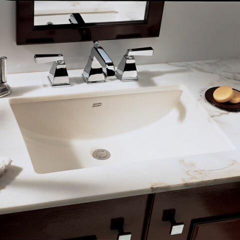 Superieur Studio Ceramic Rectangular Undermount Bathroom Sink With Overflow