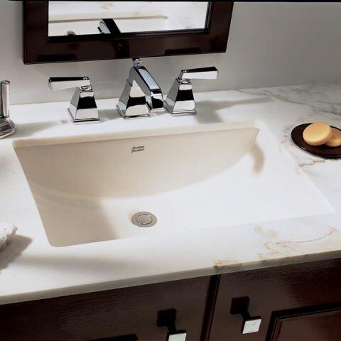 studio rectangular undermount bathroom sink with overflow