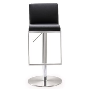 Blagg Adjustable Height Swivel Bar Stool Great Reviews