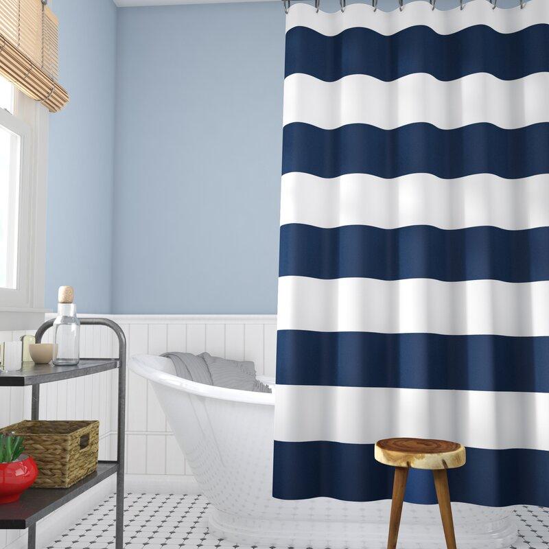 Beachcrest Home Berwyn Fabric Shower Curtain & Reviews | Wayfair