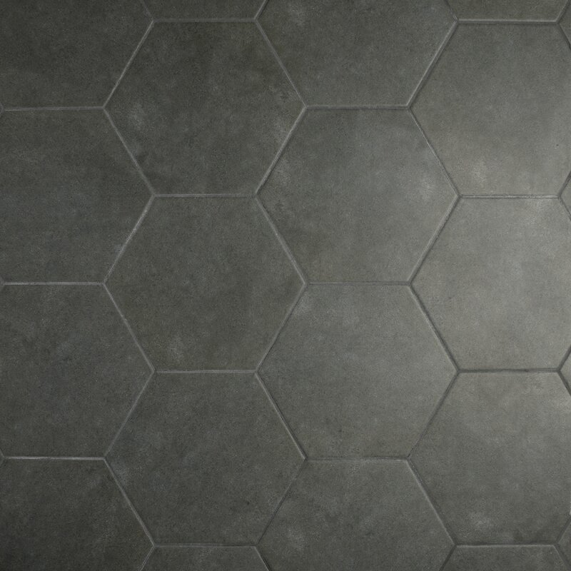 Elitetile Annata 863 X 988 Porcelain Field Tile In Charcoal Gray