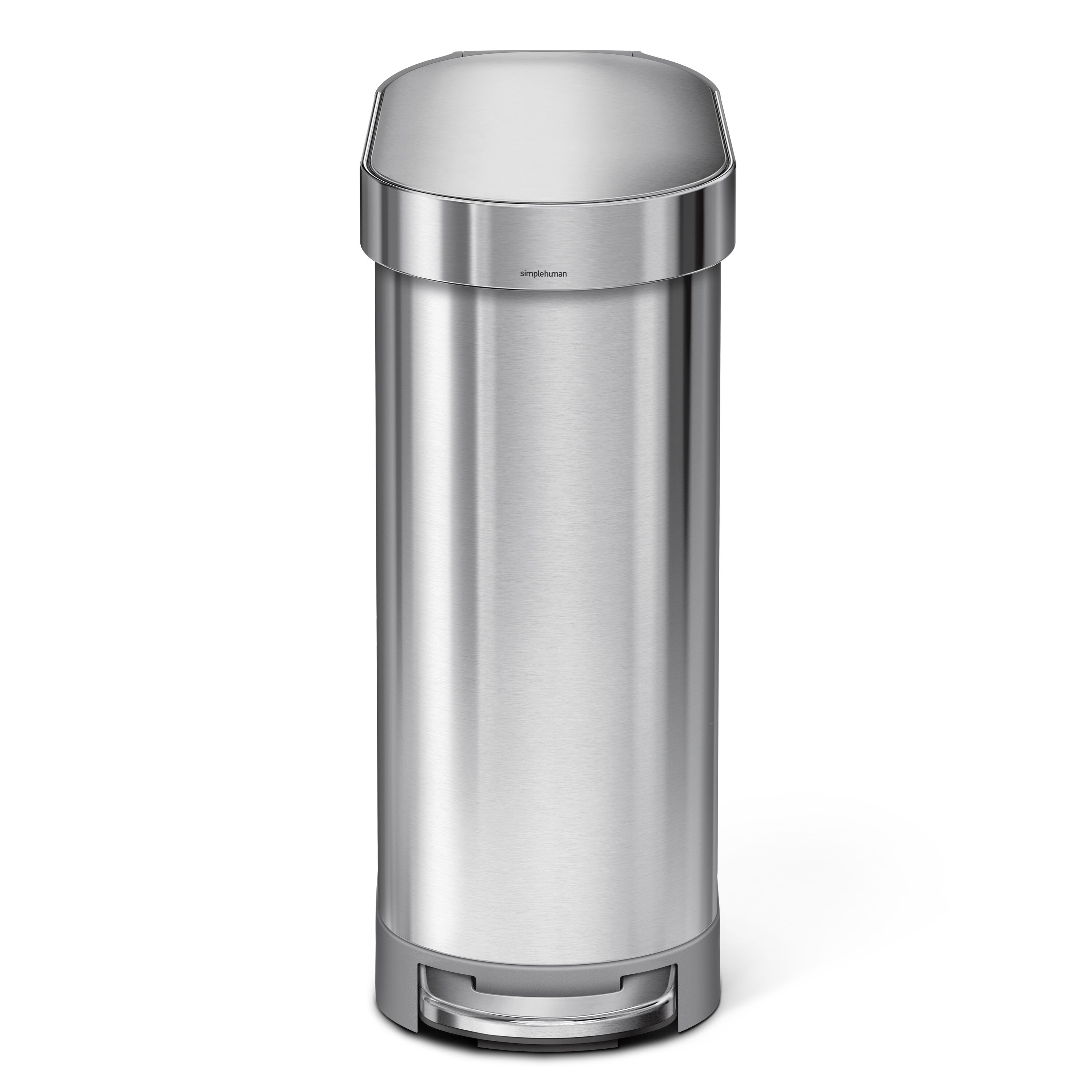 45 Liter Slim Step Stainless Steel Trash Can With Liner Rim Rose Reviews Joss Main