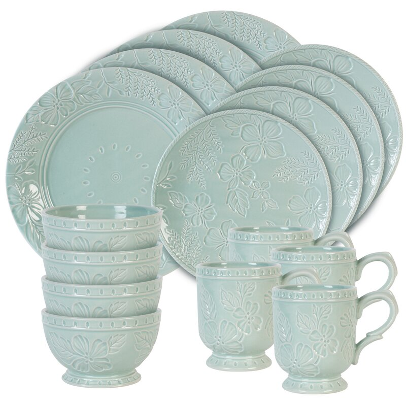 English Garden 16 Piece Dinnerware Set Service for 4  sc 1 st  Wayfair & Fitz and Floyd English Garden 16 Piece Dinnerware Set Service for 4 ...