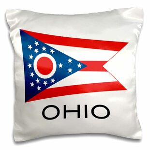 Ohio State Flag Pillow Cover