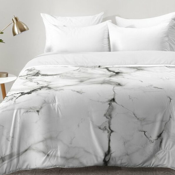 Mercury Row Buffalo Marble Comforter Set Amp Reviews Wayfair