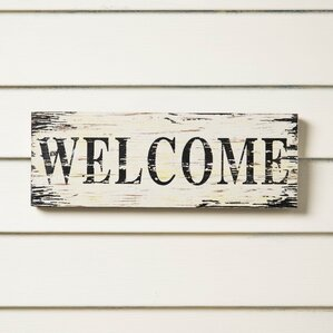 Welcome Wall Decor wall accents | birch lane