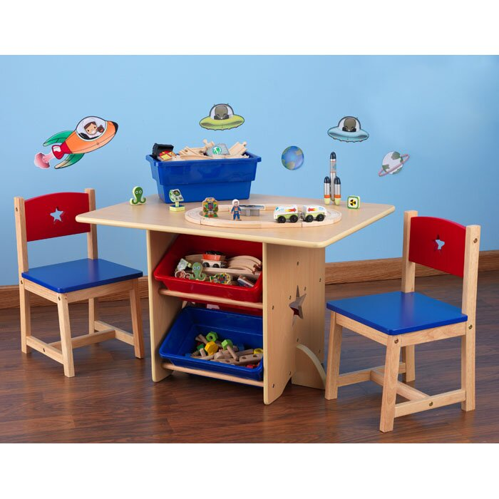 Star Kids 5 Piece Table and Chair Set  sc 1 st  Wayfair : kids table chair set - pezcame.com