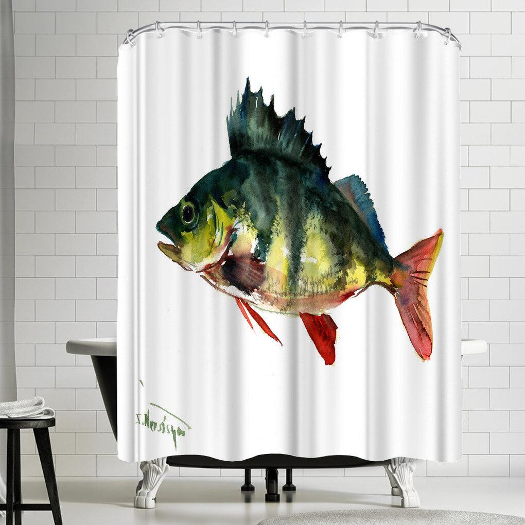 East Urban Home Suren Nersisyan Bass Fish Shower Curtain