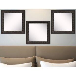 0e07e74ca1a Derrik Dark Embellished Wall Mirror (Set of 3)