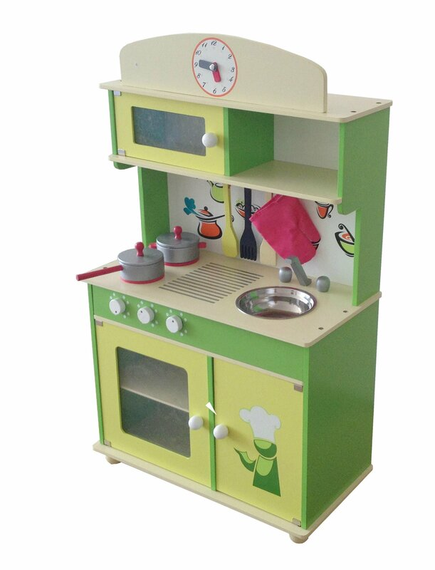 Wooden Play Kitchen berry toys my cute wooden play kitchen & reviews | wayfair