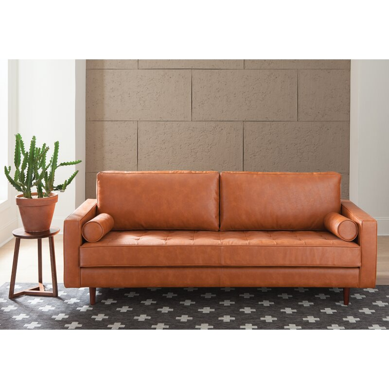 Trent Austin Design Bombay Leather Sofa Amp Reviews Wayfair Ca