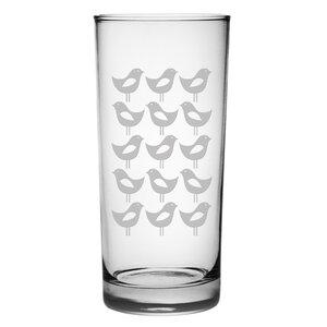 San Pasqual Mod Bird Hiball Glass (Set of 4)