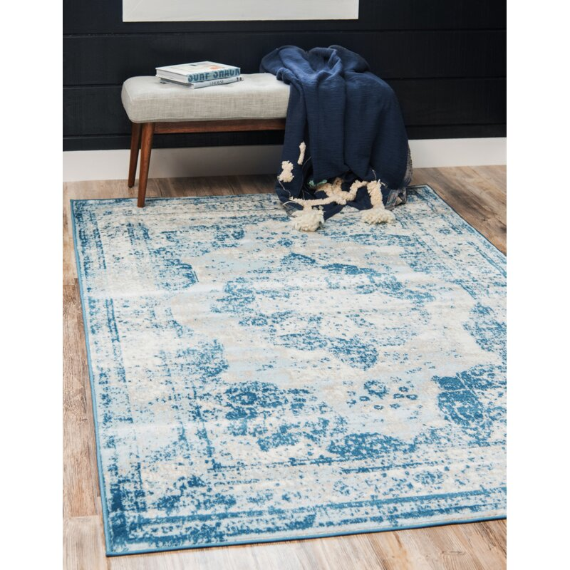 Mistana Brandt Tibetan Blue Ivory Beige Area Rug Amp Reviews