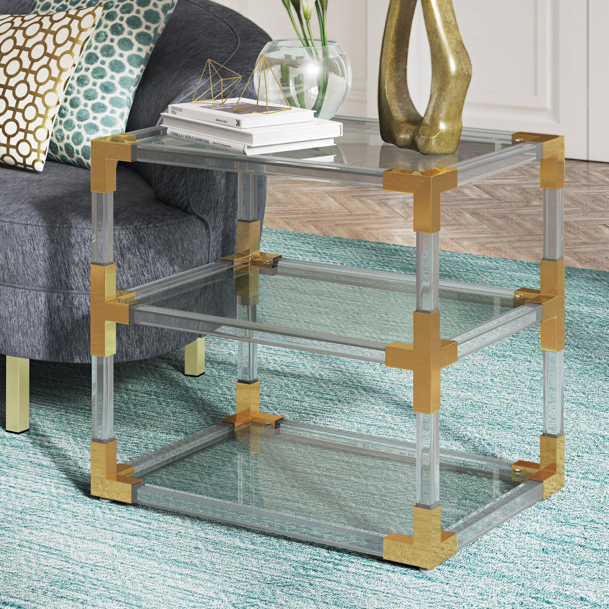 Willa Arlo Interiors Aresford Acrylic End Table & Reviews   Wayfair