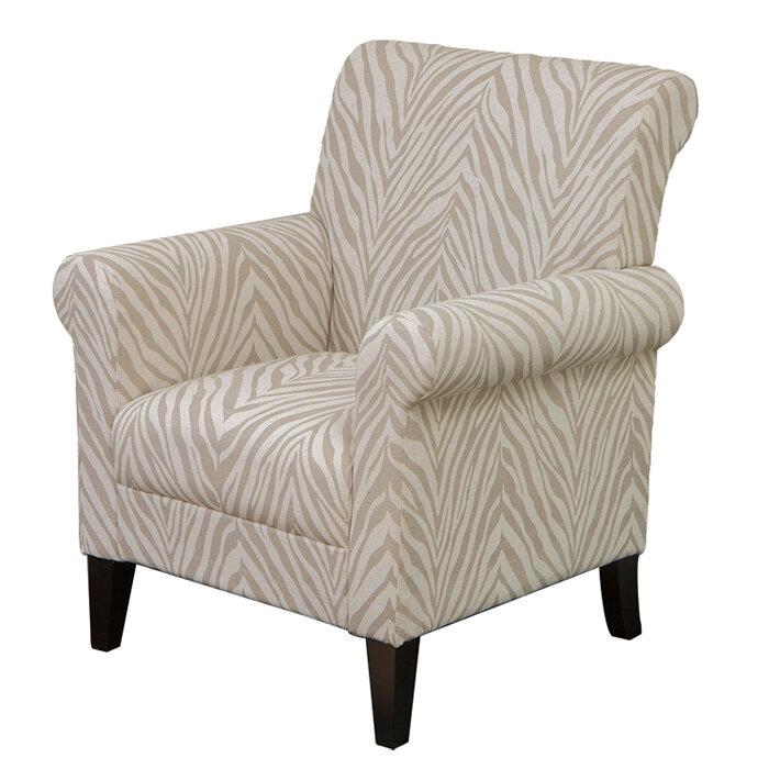 Superbe Home Loft Concepts Tatum Zebra Fabric Armchair U0026 Reviews | Wayfair