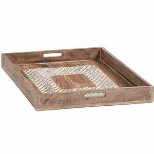 Square Wood Decorative Tray