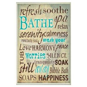 'Bath Wash Your Worries' Textual Art