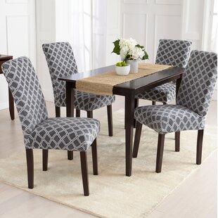 Velvet Plush Dining Chair Slipcover Set Of 2