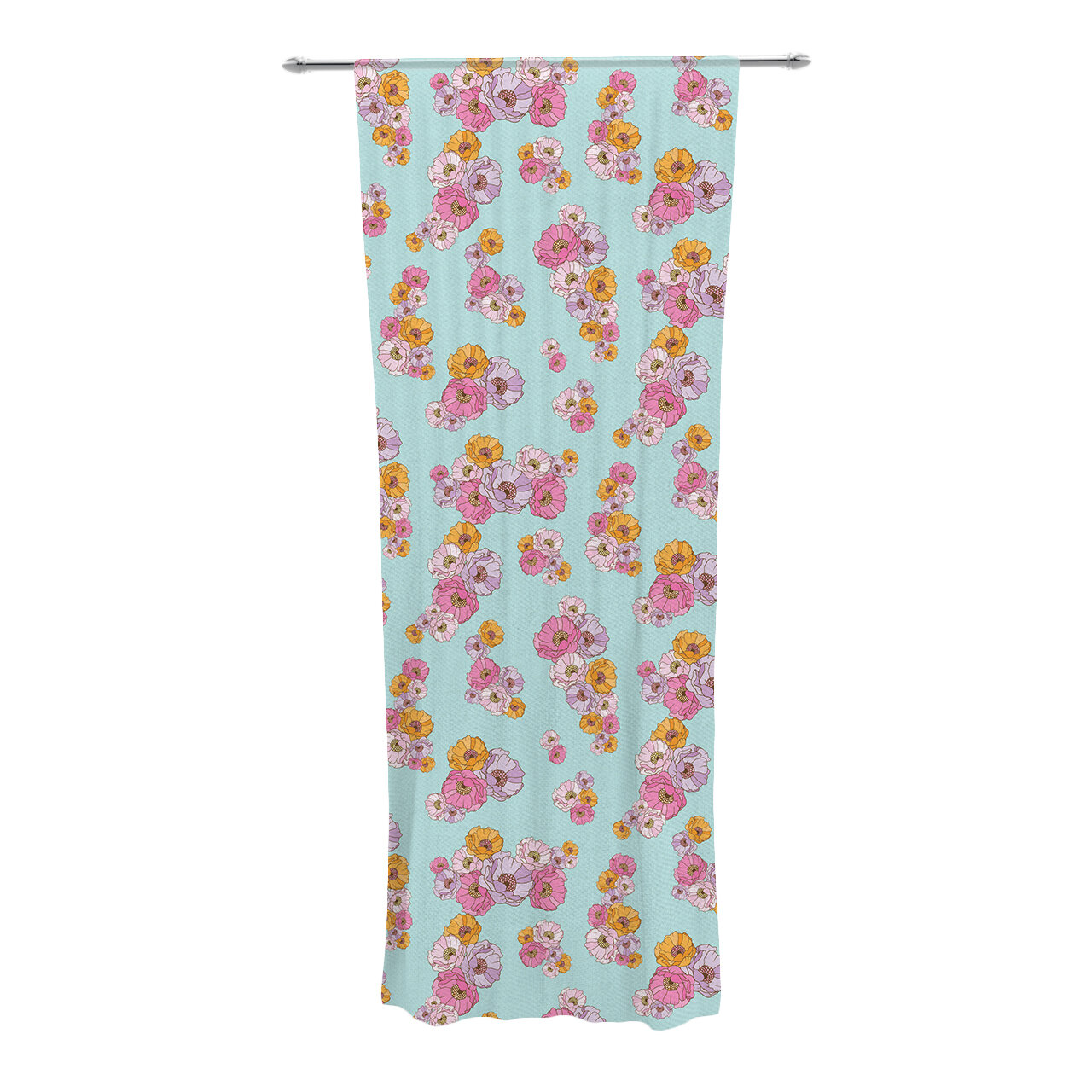 Kess Inhouse Paper Flower Nature Semi Sheer Curtain Panels Wayfair
