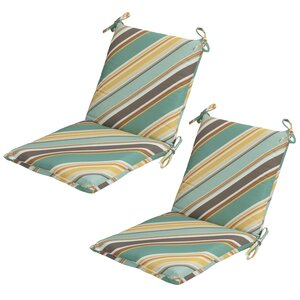 Allegra Stripe Mid-back Outdoor Dining Chair Cushion (Set of 2)