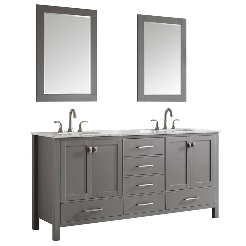Beachcrest Home Newtown 72 Double Bathroom Vanity Set