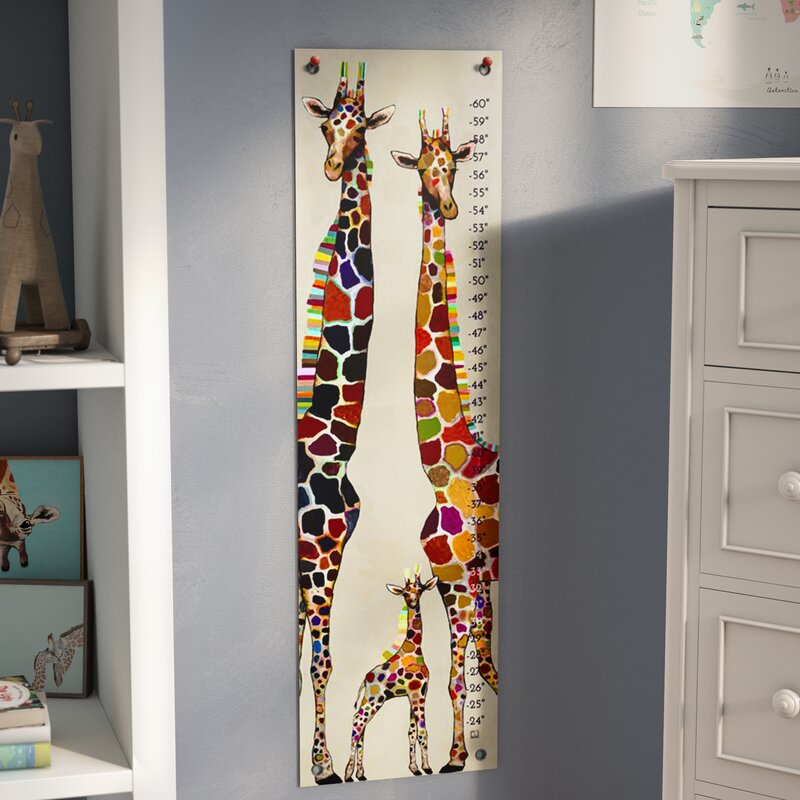 Viv Rae George Giraffe Family Canvas Growth Chart Wayfair