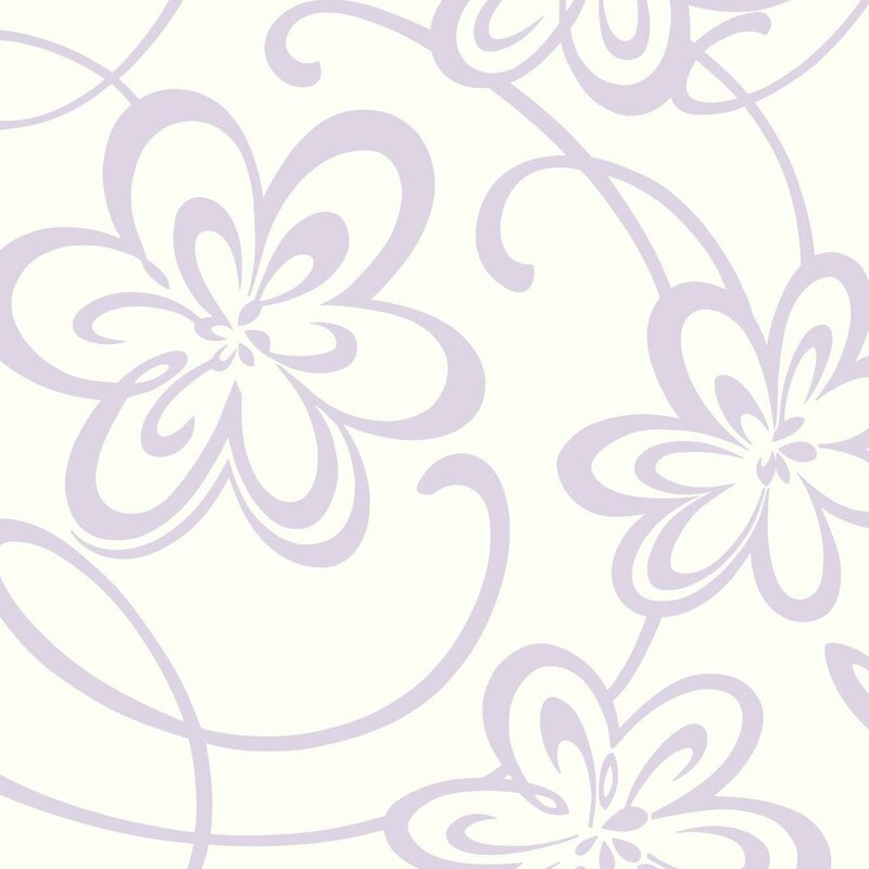 Growing Up Kids Large Floral With Scrolls Removable 27 X Wallpaper Roll