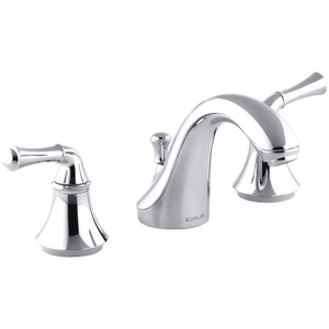 Fortu00e9 Widespread Bathroom Faucet with Drain Assembly