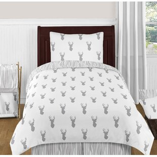 Stag 4 Piece Twin Reversible Comforter Set