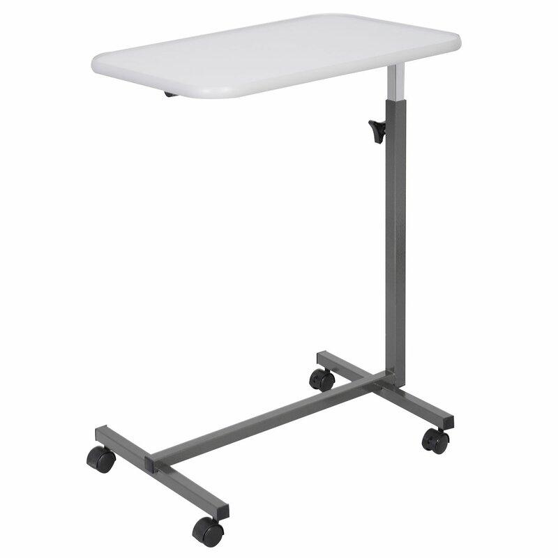 Excellent Heid Overbed Rolling Laptop Tray Tilting Height Adjustable Standing Desk Download Free Architecture Designs Lukepmadebymaigaardcom