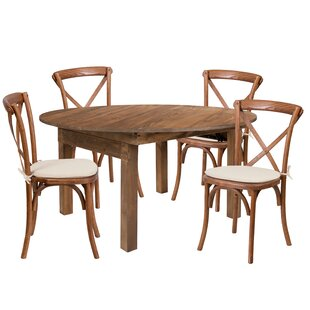 Alistair 5 Piece Solid Wood Dining Set