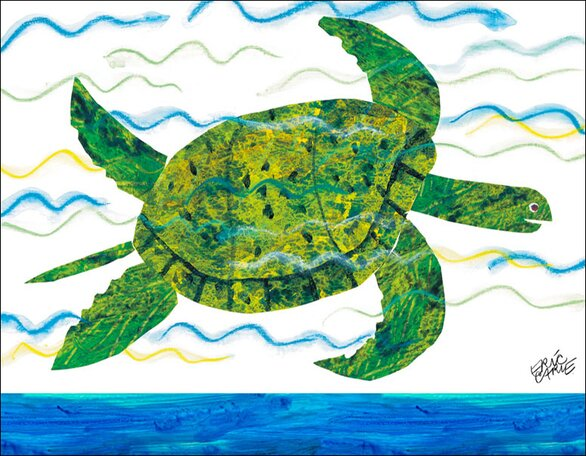 Oopsy Daisy Sea Turtle By Eric Carle Canvas Art Wayfair